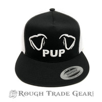 Pup Ears Mesh Snapback Cap (Black/White) - Rough Trade Gear