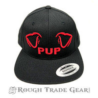 Pup Ears Snapback Cap (Black/Red) - Rough Trade Gear