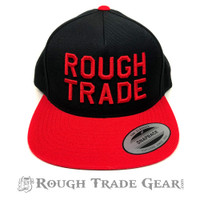 Rough Trade Snapback Cap (Black/Red) - Rough Trade Gear
