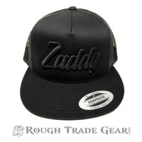 Zaddy Mesh Snapback Cap (Black/Black) - Rough Trade Gear