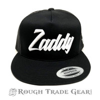 Zaddy Mesh Snapback Cap (Black/White) - Rough Trade Gear
