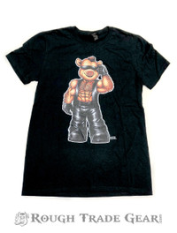 Leather Vest Eddi Bear T-Shirt - Bearded Shirts