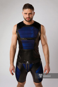 Armored Fetish Tank BLUE - Maskulo