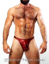XXXplicit Red Glitter Thong - Rough Trade Gear