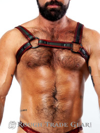 Bulldog Red Glitter Harness - RTG