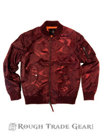 Camo Bomber Windbreaker (Wine) - RTG