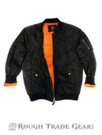 Filled Bomber Jacket (BLACK) - Rough Trade Gear