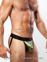 XXXplicit Metallic Fetish Jock (Green) - RTG