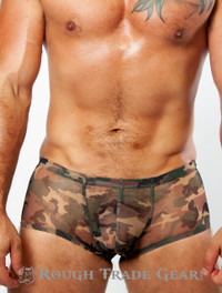 XXXplicit Mesh Trunk (CAMO) - Rough Trade Gear