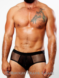 XXXplicit Elastic Mesh Brief (BLACK) - Rough Trade Gear
