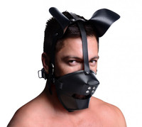 Pup Puppy Play Hood and Breathable Ball Gag - Master Series
