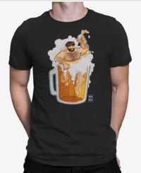 Adam Likes Beer Bath T-shirt BLACK - Bobo Bear