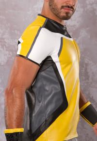 Yellow Racing Leather Shirt - Rough Trade Gear