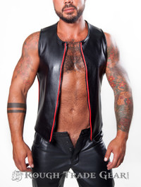 Alpha Leather Vest - Rough Trade Gear