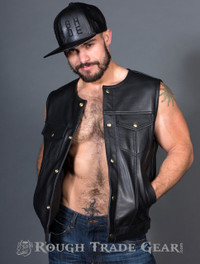 Motorcycle Leather Vest - Rough Trade Gear