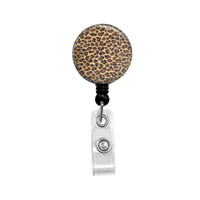 Leopard Mylar Retractable ID Badge Reel