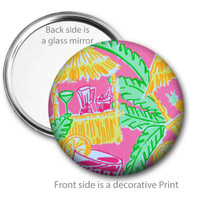 Tiki Hut Pocket Mirror