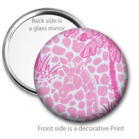 Giraffe Pocket Mirror