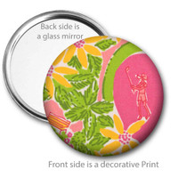 Golfer Girl Pocket Mirror