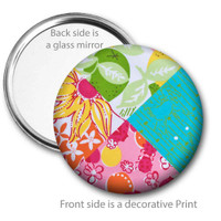 Tropical Patch Pocket Mirror