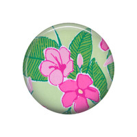 Pink Hibiscus Pocket Mirror