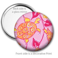 Swirly Turtle Pocket Mirror