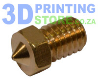 Brass Nozzle compatible with E3D Metal Hot End, 0.4mm Nozzle, 1.75mm Filament