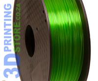 PLA Transparent Filament, 1kg, 1.75mm, Green