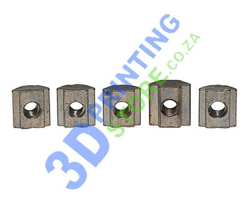 20 Series Slide T-Nut, M4, Pack of 5