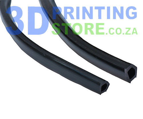 Elastic liner for aluminium profile, Black