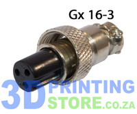 GX16 Connector, 3 Pin, Female