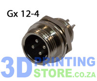 GX12 Connector, 4 Pin, Male