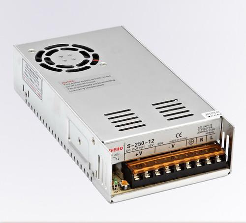 Power Supply 250W, 12V, 18A