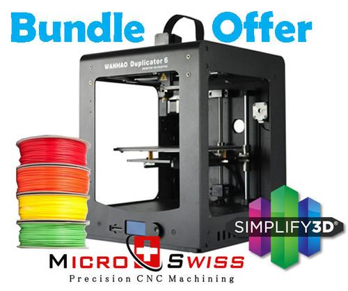 Wanhao Duplicator 6 Plus 3D Printer Bundle