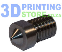 Titanium Nozzle compatible with E3D Metal Hot End, 0.4mm Nozzle, 1.75mm Filament