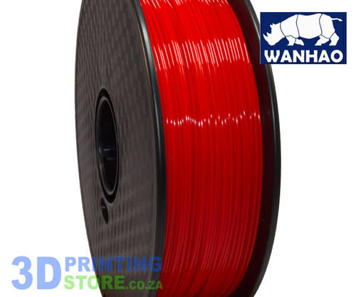 Wanhao PLA FIlament, 1Kg, 1.75mm, Red