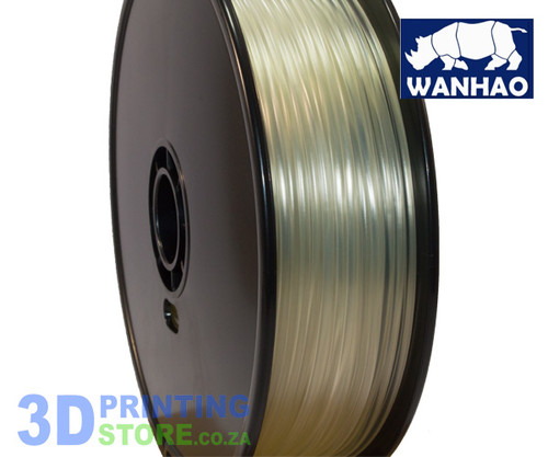 Wanhao PLA FIlament, 1Kg,  3mm, Transparent