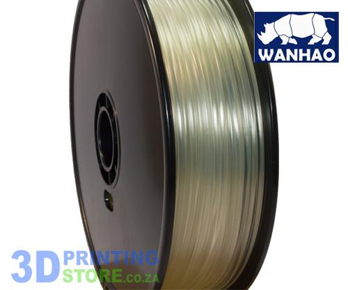 Wanhao PLA FIlament, 1Kg,  3mm, Transparent