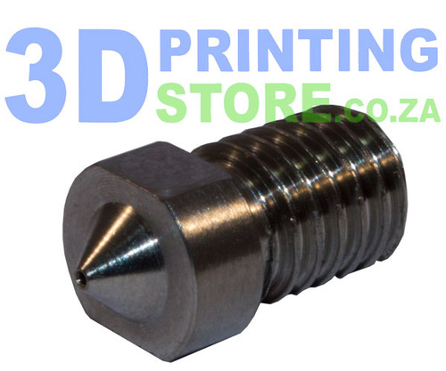 Hardened Steel Nozzle compatible with E3D Metal Hot End, 0.4mm Nozzle, 1.75mm Filament