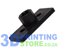 Flanged nut for 8mm lead screw, Delrin, 2mm pitch