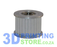Idler Pulley with teeth for HTD-3M Belt, 25 teeth, 15mm wide