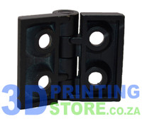 Hinge for 20-Series Profile, Black Metal, 1 Pair