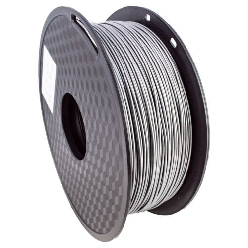 CRON Metal Fill Filament, 1kg, 1.75mm, Aluminium Like