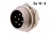 GX16 Connector, 6 Pin, Male