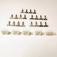 JST 4-way connector with pins, Pack of 5