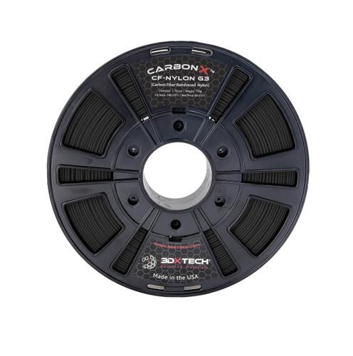 3DX Tech CarbonX Nylon Filament, 1.75mm, 0.75kg, Black