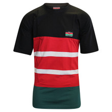 Kenya Rugby Supporter T-Shirt - Black/Red/Green