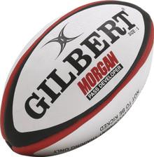 Gilbert Rugby Morgan Pass Developer Ball - Black/Scarlet