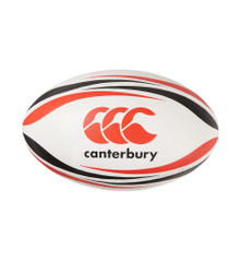 Canterbury Elite Match Rugby Ball - White/Scarlet