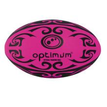 Optimum Tribal Rugby Ball - Pink/Black